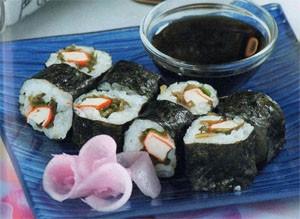 Футомаки с морской капустой