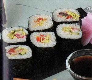 Футомаки ролл с салатом