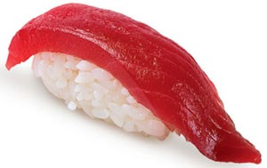 Магуро нигири (суши с тунцом)